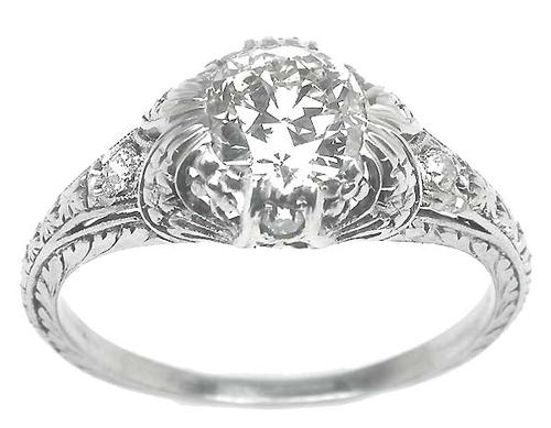 Antique Diamond Engagement Ring GIA Certified