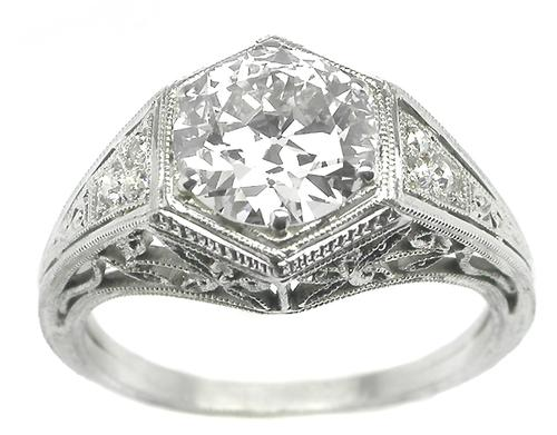 Antique Platinum Engagement Ring