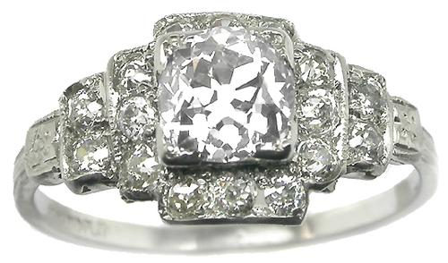 GIA Certified 1.02ct Old Mine cut Antique Diamond Ring