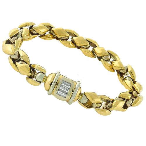 0.50ct  Diamond Gold Bracelet