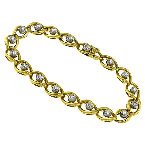 1.00ct Diamond 2 Tone Gold Bracelet