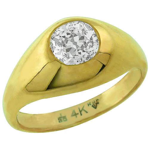 Buy Estate 125ct Diamond Gold Gypsy Ring New York Estate Jewelry