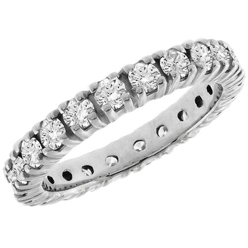 1.25ct Diamond Eternity Wedding Band