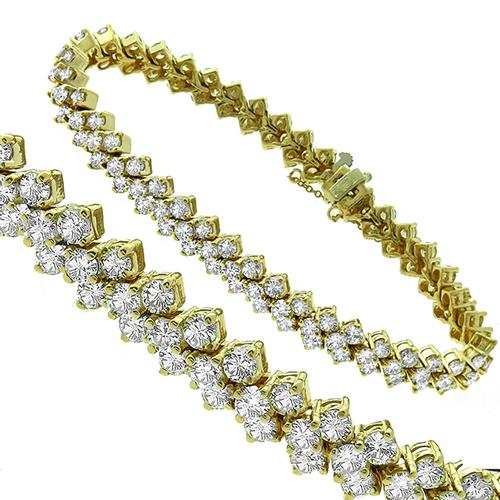 13.00ct Diamond Gold Bracelet