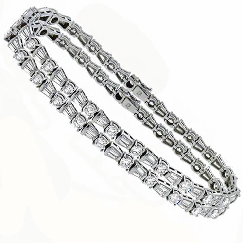 13.00cttw  Diamond Gold Identical Bracelets