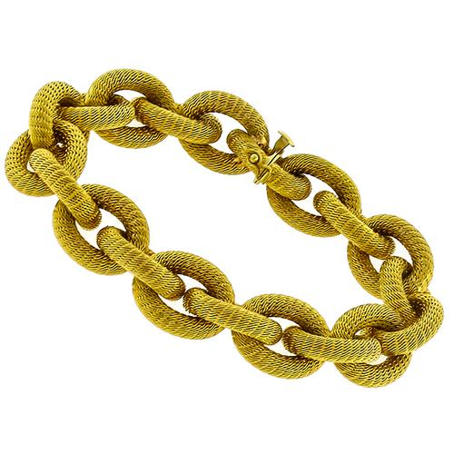 Gold Mesh Cable Chain Bracelet