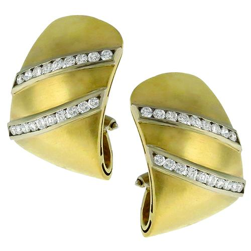 1.90ct Diamond Gold Earrings