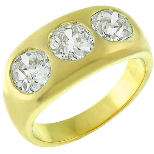 Buy Estate 1920s 280cttw Cushion Cut Diamond 18k Yellow Gold Gypsy