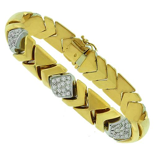 2.40ct Diamond Gold Bracelet