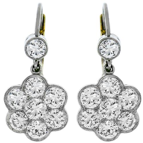 Diamond Platinum Gold Earrings