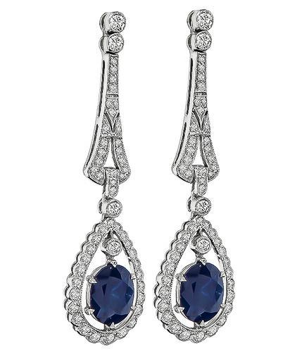Cushion Cut Shire Round Diamond 18k Gold Earrings