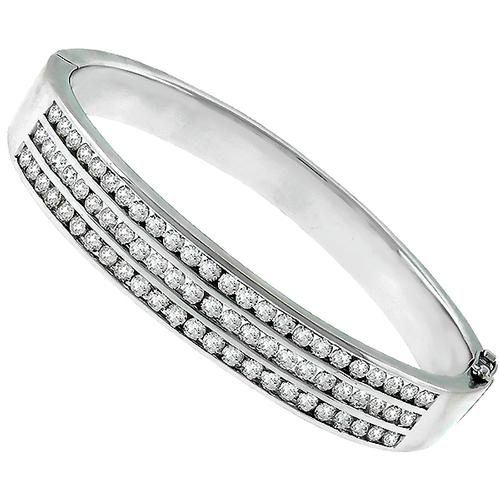 6.00ct Diamond Gold Bangle