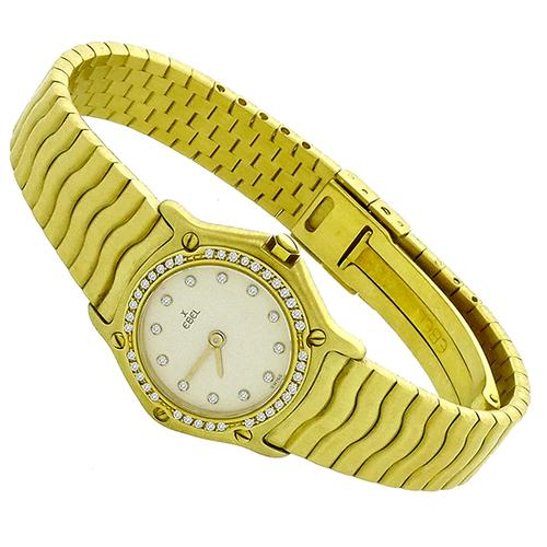 Ebel Diamond Gold Watch
