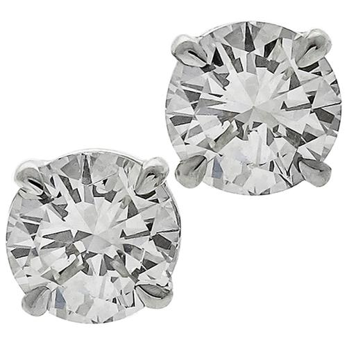 GIA Diamond Stud Earrings