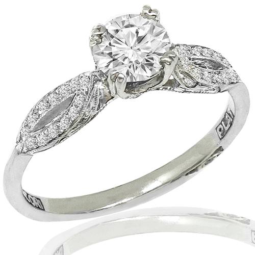 Tacori Diamond Platinum Engagement Ring