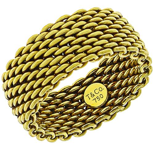 Tiffany & Co Gold Mesh Band