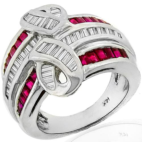 1.00ct Ruby 0.75ct Diamond Gold Ring