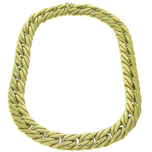 Gold Cuban Link Chain Necklace