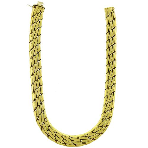 Gold Weave Chain Necklace
