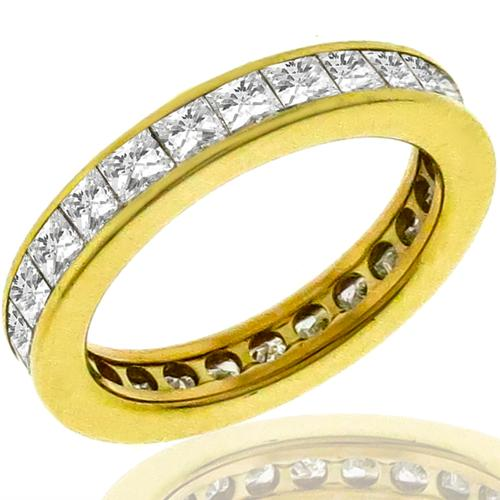 2.24ct Diamond Eternity Gold Wedding Band
