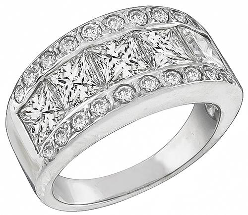 Princess Cut Diamond 14k White Gold Ring