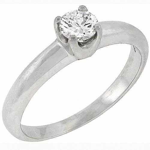 Buy H Stern 0 25ct Diamond Solitaire Engagement Ring New York
