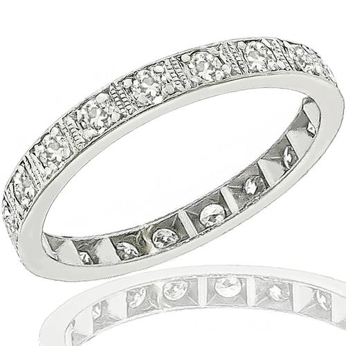 Art Deco 1.00ct Diamond Eternity Wedding Band