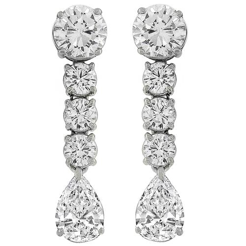 2.86ct And 2.57ct Diamond Gold Day And Night Earrings