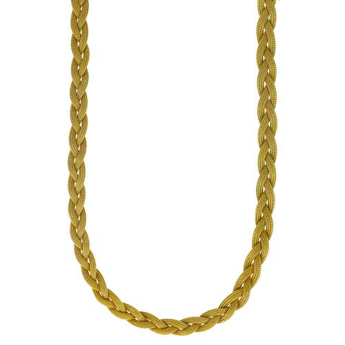 18k Gold Weave Mesh Necklace