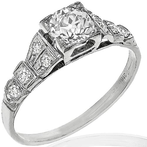GIA 0.55ct Diamond Engagement Ring