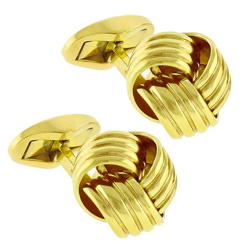 Wempe Gold Knot Cufflinks