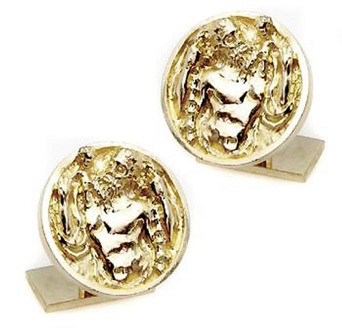Ruser  St. Christopher 14k Yellow Gold Cufflinks