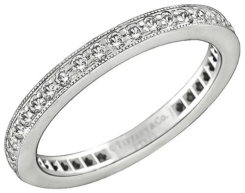 Round Cut Diamond Platinum Eternity Wedding Band by Tiffany & Co