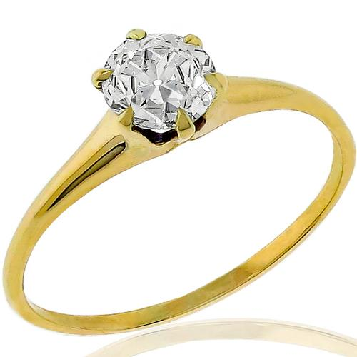 Victorian GIA 0.68ct Diamond Solitaire Ring
