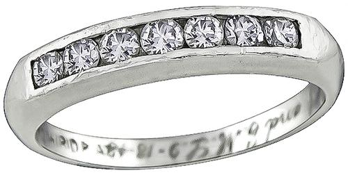 1948 Round Cut Diamond Platinum Wedding Band