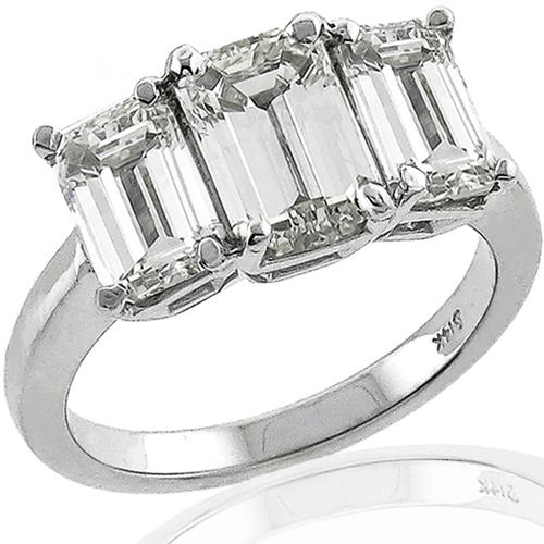 3.46ct Diamond Gold Engagement Ring