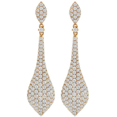 Buy vintage 450ct round cut diamond 18k pink gold chandelier estate diamond chandelier earrings mozeypictures Image collections