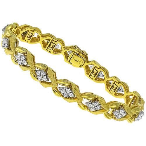 3.35ct Diamond Gold Bracelet