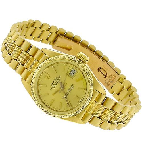 Rolex Lady's Gold Watch