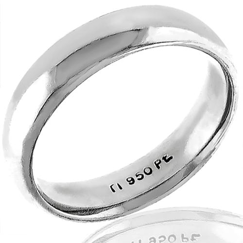 Comfort Fit Platinum Wedding Band