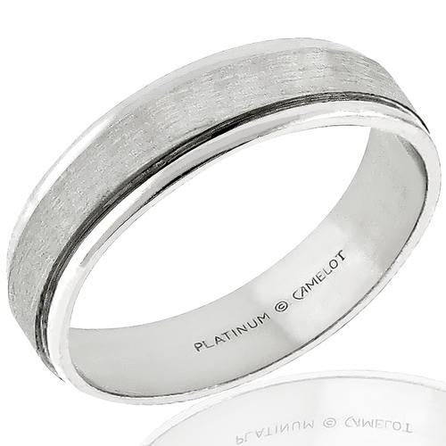 Camelot Platinum Wedding Band
