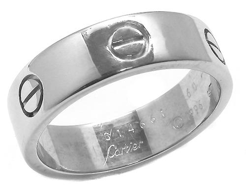 Buy White Gold Cartier Love Wedding Band New York Estate Jewelry