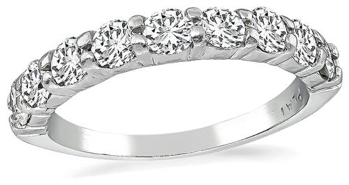 Round Cut Diamond Platinum Wedding Band