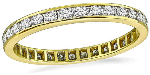 Round Cut Diamond 14k Gold Eternity Wedding Band