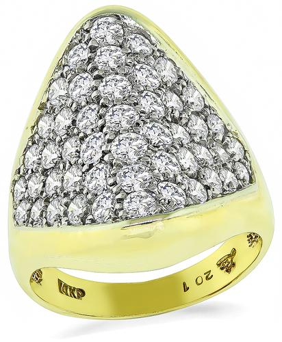 Round Cut Diamond 14k Yellow Gold Ring