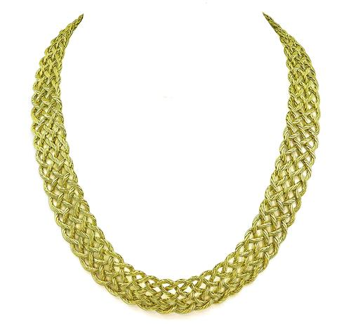 Buccellati 18k Yellow Gold Crepe de Chine Necklace