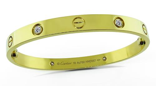 18k Yellow Gold Diamond Love Bangle by Cartier