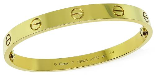 18k Yellow Gold Love Bangle by Cartier