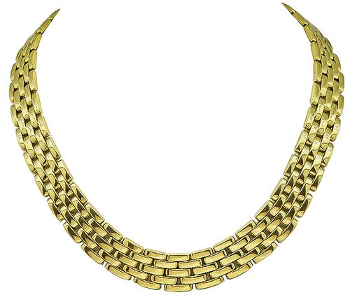 18k Yellow Gold Panther Necklace by Cartier