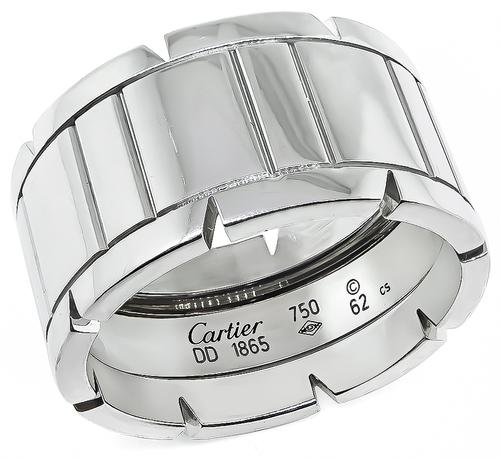 18k Yellow Gold 12mm Tank Francaise Ring by Cartier
